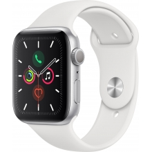 Apple Watch Series 5 44mm, stříbrná