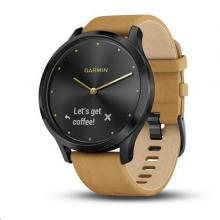 Garmin vívomove Optic Premium Black, Tan band