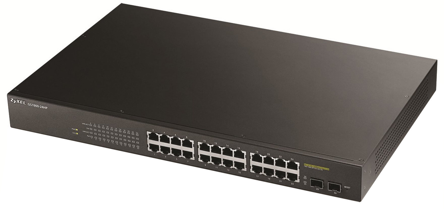 ZyXEL GS1900-24HP konfigurovatelný switch 24 portů