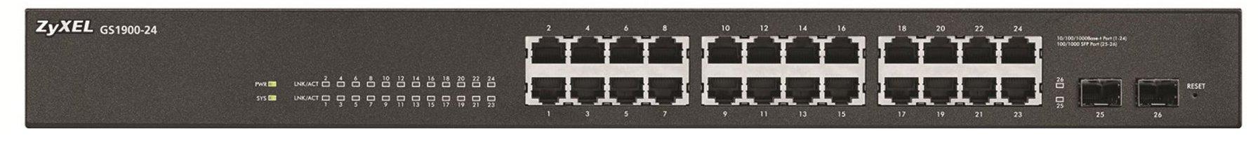 ZyXEL GS1900-24 konfigurovatelný switch 24 portů