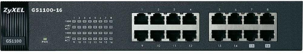 Zyxel GS1100-16 nekonfigurovatelný switch 16 portů