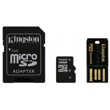 Kingston Micro SDHC 16GB Class 4 + čtečka a adaptér