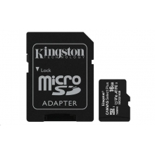 Kingston Micro SDHC Canvas Select 16GB 80MB/s UHS-I + SD adaptér (SDCS/16GB)