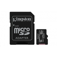 Kingston Micro SDXC Canvas Select 64GB + SD adaptér