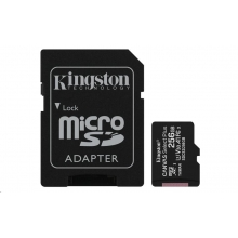 Kingston Micro SDXC Canvas Select 256GB 80MB/s UHS-I + SD adaptér (SDCS/256GB)