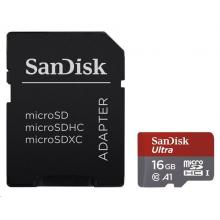 SanDisk MicroSDHC 16GB Ultra Android Class!)  + SD adaptér