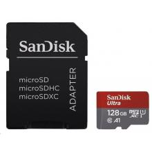 SanDisk Micro SDXC Ultra Android 128GB 100MB/s A1 UHS-I + SD adaptér