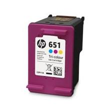 HP 651 Tri-color Original Ink Advantage Cartridge, C2P11AE