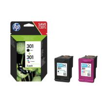 HP 301 Ink Cartridge Combo 2-Pack, N9J72AE