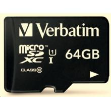 VERBATIM Premium U1 Micro SecureDigital SDHC/SDXC 64GB