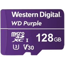 WD Micro SDXC Purple 128GB 100 MB/s UHS-I U3