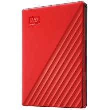 WD My Passport Portable - 4TB, červená