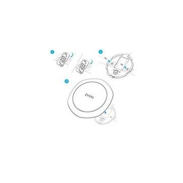 Stropní klipy Zyxel T-BAR pro stropní montáž AP do WAC6303D-S, 5 sad, ROHS
