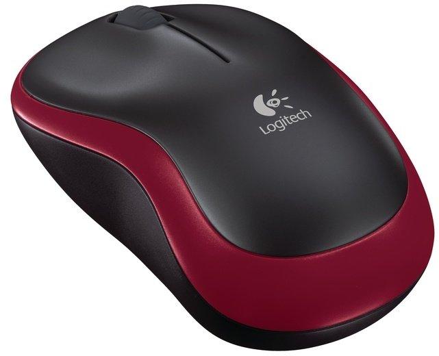 Logitech Wireless Mouse M185, červená - obrázek č. 0