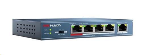 Hikvision DS-3E0105P-E (4+1) PoE switch - obrázek č. 0