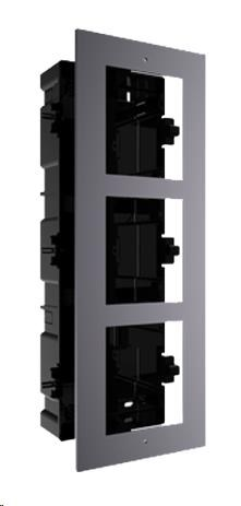 HIKVISION DS-KD-ACF3, rámeček pro modulární interkom, pro 3 moduly, zápustná montáž - obrázek č. 0