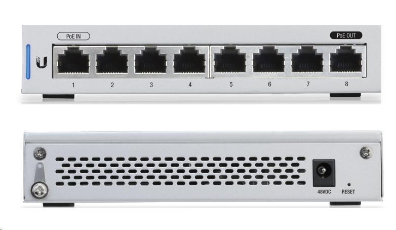 UBNT UniFi Switch US-8 [8xGigabit, 1xPoE in, 1xPoE out, non-blocking 8Gbps] - obrázek č. 0