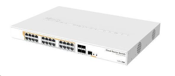 MikroTik Cloud Router Switch CRS328-24P-4S+RM, 800MHz CPU,512MB RAM, 24xLAN, 4xSFP+ slot, vč. L5 - obrázek č. 0