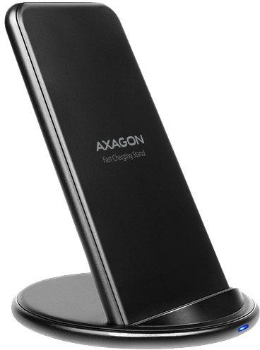 AXAGON WDC-S10D dual coil Wireless Fast Charging Stand, QI 5/7.5/10W, micro USB - obrázek č. 0