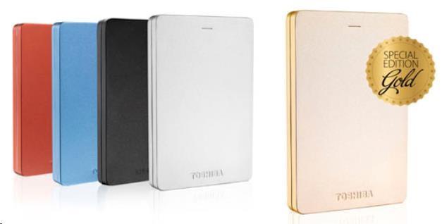 Toshiba Canvio Alu 3S - 500GB, červený - obrázek č. 0
