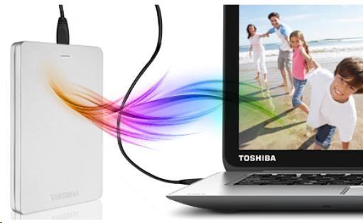 Toshiba Canvio Alu 3S - 1TB, červený - obrázek č. 1