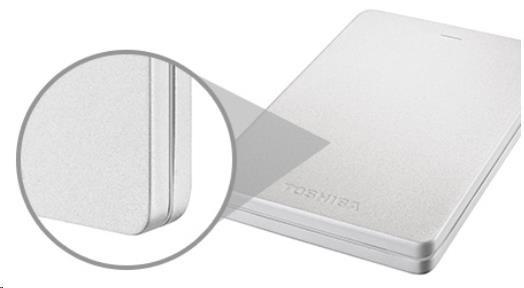 """Toshiba CANVIO ALU 2.5"""" 2TB červený - obrázek č. 2"""