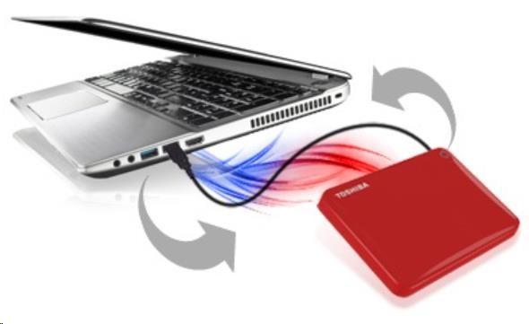 "TOSHIBA HDD CANVIO CONNECT II 500GB, 2,5"", USB 3.0, černý - obrázek č. 4"