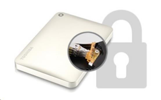 "TOSHIBA HDD CANVIO CONNECT II 1TB, 2,5"", USB 3.0, zlatý - obrázek č. 6"