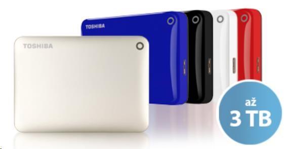 Toshiba Canvio Connect II, 1TB červený - obrázek č. 1