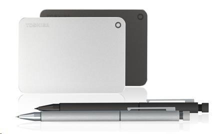Toshiba Canvio Premium - 1TB, metalická stříbrná - obrázek č. 1
