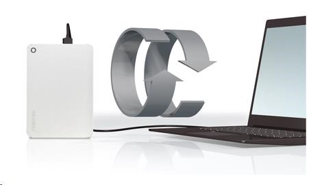 Toshiba Canvio Premium - 1TB, metalická stříbrná - obrázek č. 3