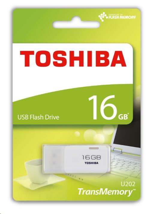 TOSHIBA 16GB USB Flash 2.0 U202 bílý - obrázek č. 0