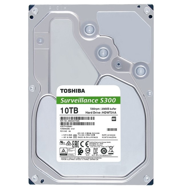 TOSHIBA HDD S300 Surveillance 8TB, SATA III, 7200 rpm, 256MB cache, 3,5 - obrázek č. 1