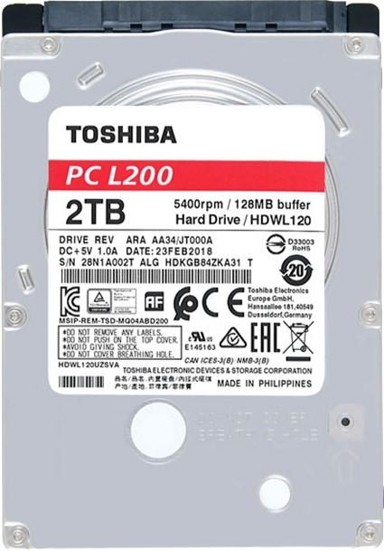 TOSHIBA HDD L200 1TB, SMR, SATA III, 5400 rpm, 128MB cache, 2,5 - obrázek č. 1