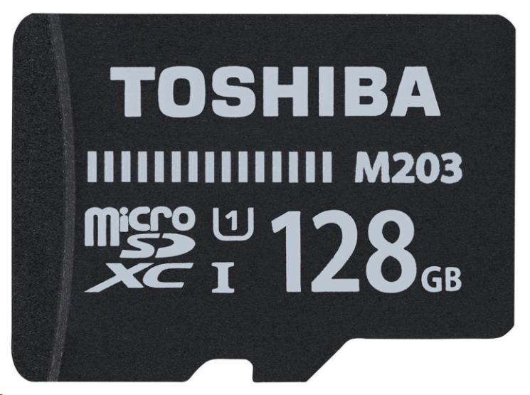 TOSHIBA microSD 128GB paměťová karta UHS-I (U1), M203, Class 10 + adapter - obrázek č. 0