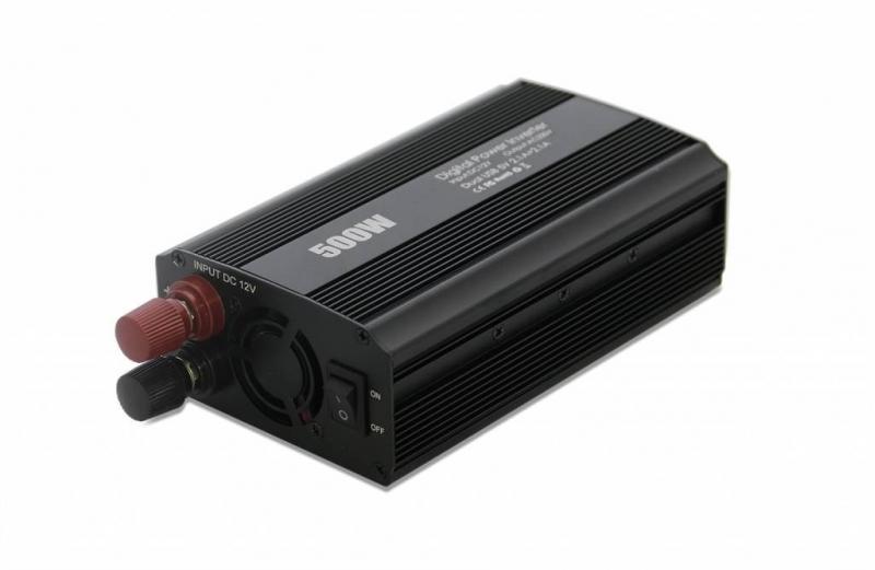 EUROCASE měnič napětí DY-8109-12, AC/DC 12V/230V, 500W, USB - obrázek č. 0