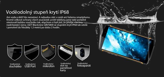 iGET Blackview GBV5800, Dual SIM, IP68 - obrázek č. 4