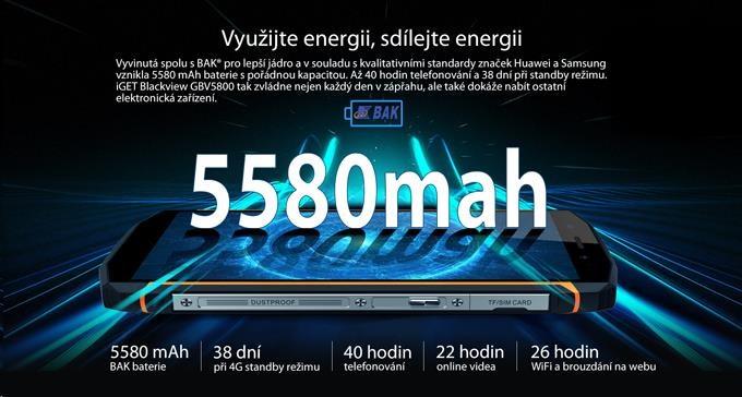iGET Blackview GBV5800, Dual SIM, IP68 - obrázek č. 5