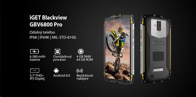 iGET Blackview GBV6800 Pro Yellow - obrázek č. 0