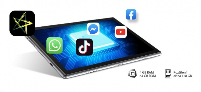 iGET Blackview TAB G8, 4GB/64GB, LTE, Gold 100Kč slevový kód na LEGO (kombinovatelný, max. 1ks/objednávku) - obrázek č. 4