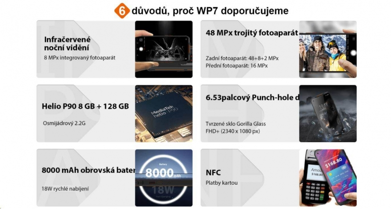 Oukitel WP9 Orange - obrázek č. 1