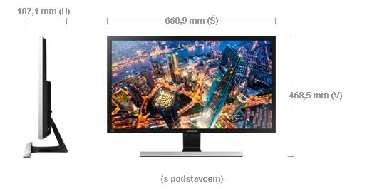 """Samsung U28E590D - LED monitor 28"""" - obrázek č. 3"""