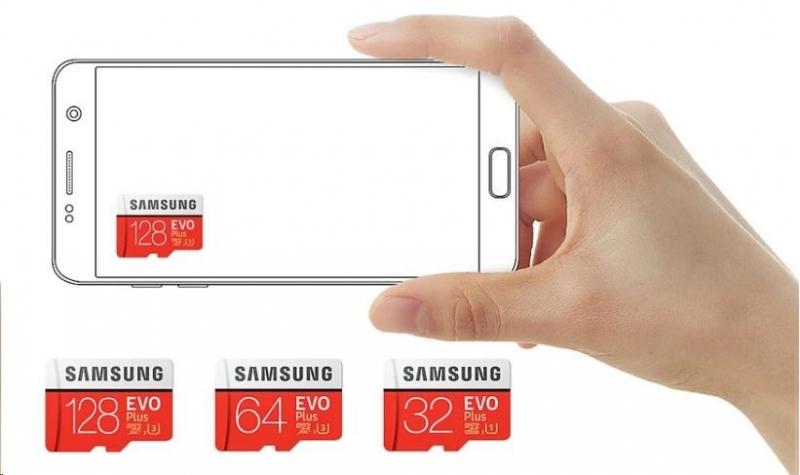 Samsung Micro SDXC karta 512GB EVO Plus (Class 10 UHS-3) + SD adaptér - obrázek č. 0