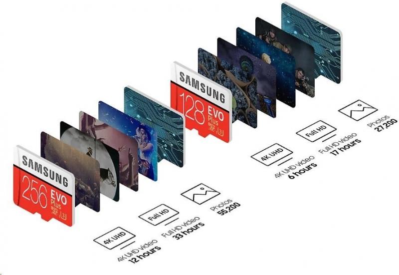 Samsung Micro SDXC karta 512GB EVO Plus (Class 10 UHS-3) + SD adaptér - obrázek č. 1
