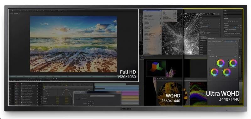 Samsung  S34J55WQUX LED monitor 34 - obrázek č. 1
