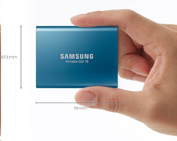 Samsung Externí SSD disk - 1 TB - červený - obrázek č. 2