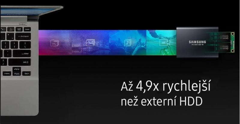 Samsung Externí SSD disk - 1 TB - červený - obrázek č. 1
