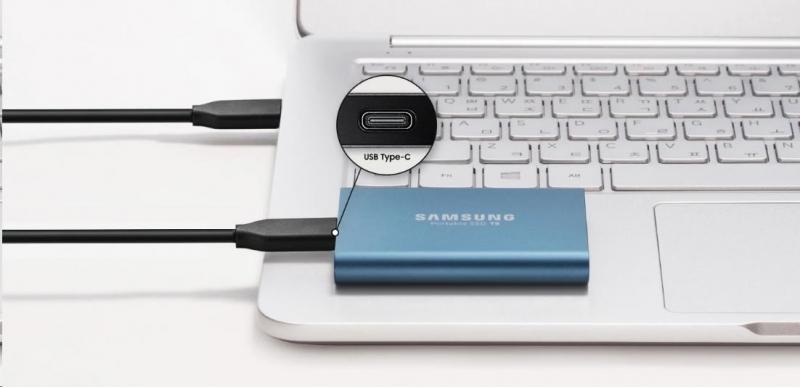 Samsung Externí SSD disk - 500 GB - zlatý - obrázek č. 3