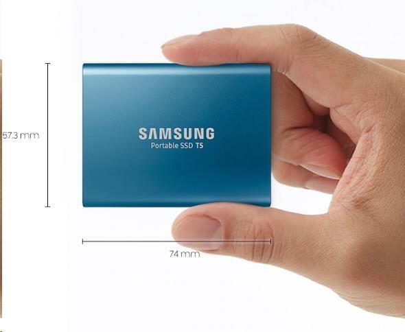 Samsung Externí SSD disk - 500 GB - červený - obrázek č. 2