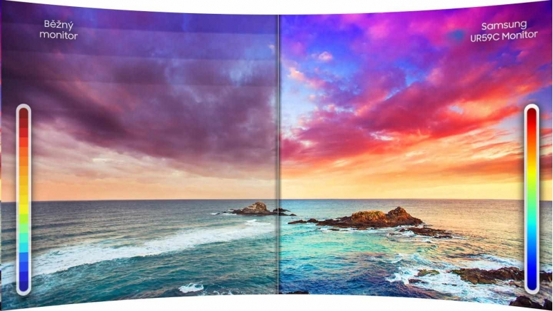 Samsung MT LCD 32LC27RG50FQUXEN - 2560 x 1440, 4ms, VA panel, HDMI, Display port, prohnutý - obrázek č. 2